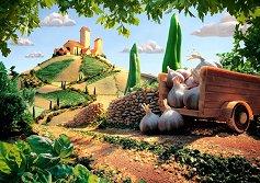 """Пейзаж, Тоскана - Карл Уорнър (Carl Warner) : От колекцията """"Premium Quality"""" - пъзел"""