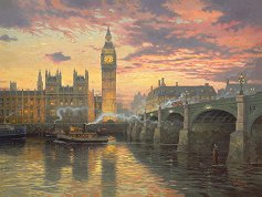 """На смрачаване, Лондон - Томас Кинкейд (Thomas Kinkade) : От колекцията """"Premium Quality"""" -"""