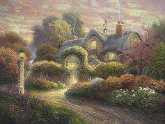 """Вила с красива градина - Томас Кинкейд (Thomas Kinkade) : От колекцията """"Premium Quality"""" - пъзел"""