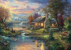 """Естествената красота на природата - Томас Кинкейд (Thomas Kinkade) : От колекцията """"Premium Quality"""" - пъзел"""