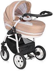 Бебешка количка 3 в 1 - Kara 2019 - С 4 колела -