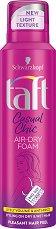 Taft Casual Chic Air-Dry Foam - Спрей-пяна за коса за ефирен обем - продукт