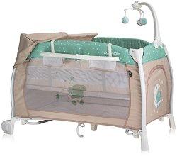 Сгъваемо бебешко легло на две нива - iLounge 2019 - С люлеещ механизъм -