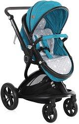 Комбинирана бебешка количка - Lumina 2019 - С 4 колела -