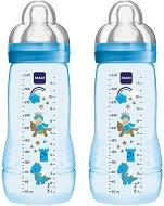 Бебешки шишета за хранене - Easy Active Fairy Tale Combi 330 ml - Комплект от 2 броя със силиконов биберон размер 3 за бебета над 4 месеца -