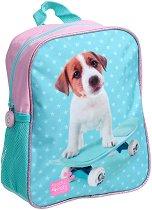 """Раница за детска градина - Куче на скейтборд - От серията """"Paso: Studio Pets"""" - раница"""