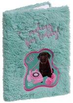 """Тефтер с плюшени корици - Куче - От серията """"Paso: Studio Pets"""""""