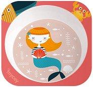Детска меламинова чиния за хранене - Русалка - За бебета над 6 месеца -