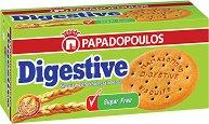 Бисквити с пълнозърнесто брашно без захар - Digestive - Опаковка от 250 g -