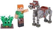 """Алекс с кон - скелет - Комплект с аксесоари от серията """"Minecraft"""" -"""