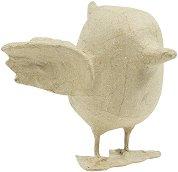 Фигура от папиемаше - Птица - Предмет за декориране с размери 12 / 14 / 15 cm