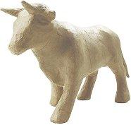 Фигура от папиемаше - Бик - Предмет за декориране с размери 17 / 8 / 7 cm