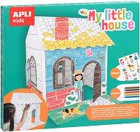 Моята малка къща - 3D пъзел за оцветяване -