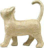 Фигура от папиемаше - Котка - Предмет за декориране с размери 21 / 6 / 19 cm