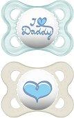 Залъгалки от силикон с ортодонтична форма - Style - Комплект от 2 броя за бебета от 0+ месеца - биберон