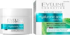 Eveline Skin Care Expert Hyaluronic Acid + Green Tea Day & Night Cream - маска