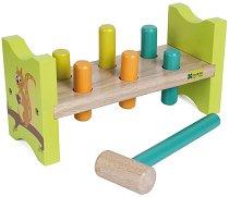 Наковалня с чукче - Детска дървена играчка -