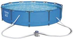 Сглобяем кръгъл басейн - Steel Pro Max - Комплект с филтърна помпа -
