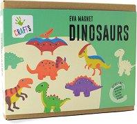 """Направи си сам - Магнити с динозаври - Творчески комплект от серията """"Craft"""" - творчески комплект"""