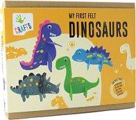 """Направи си сам - Динозаври от филц - Творчески комплект от серията """"Craft"""" - творчески комплект"""