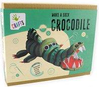 """Направи си сам - Крокодил от чорап - Творчески комплект от серията: """"Crafts"""" - творчески комплект"""