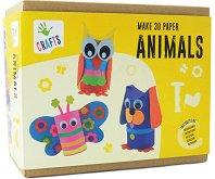 """Направи сам - Животни от хартия - Творчески комплект от серията """"Crafts"""" - творчески комплект"""