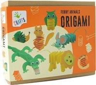 """Оригами - Забавни животни - Творчески комплект от серията """"Crafts'' -"""