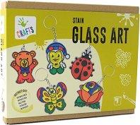 """Декорирай сам - Стъклени ключодържатели - Творчески комплект от серията """"Crafts"""" -"""