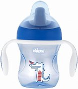 """Неразливаща се чаша с мек накрайник и дръжки - 200 ml - За бебета над 6 месеца от серията """"Mix & Match"""" -"""