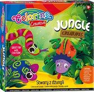 Направи си сам - Животни от джунглата - Творчески комплект с EVA пяна - играчка