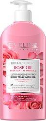 Eveline Botanic Expert Rose Oil Ultra Reganerating Body Milk - Регенериращо мляко за тяло с екстракт и масло от роза -