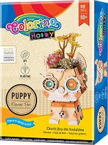 """Направи си сам саксия - Куче - Творчески комплект от серията """"Hobby"""" -"""