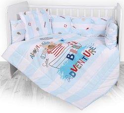 Спален комплект за бебешко креватче - Big Adventure - 4 части с обиколник -