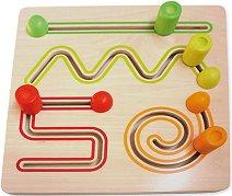 Тренажор - Видове линии - Дървена образователна играчка -