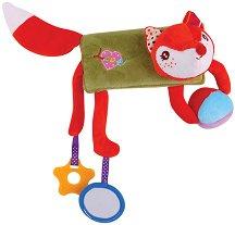 Лисичка - Мека бебешка играчка с дрънкалка и дъвкалка -