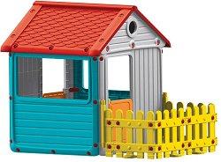 Детска сглобяема къща с ограда за игра -