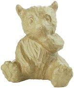 Фигура от папиемаше - Панда - Предмет за декориране с размери 13.5 / 10 / 15 cm