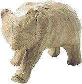 Фигура от папиемаше - Мече - Предмет за декориране с размери 10 / 5 / 7 cm
