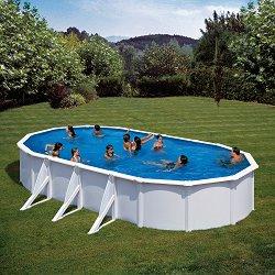 Овален сглобяем басейн - С твърда конструкция