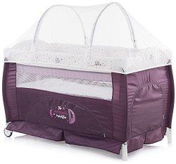 Сгъваемо бебешко легло на две нива - Bella 2019 - Комплект с аксесоари - пюре