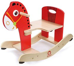 Детска дървена люлка - Конче - играчка