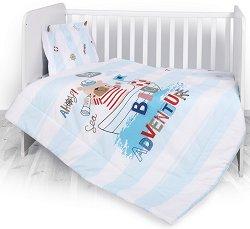 Спален комплект за бебешко креватче - Big Adventure - Комплект от 3 части -