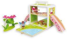 Къщата на феите - В куфарче - Детска дървена играчка -