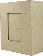 Рамка за снимки от папиемаше - Предмет за декориране с размери 19 / 23 / 9 cm