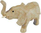 Фигура от папиемаше - Слонче - Предмет за декориране с размери 11 / 5 / 8 cm