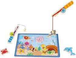 Риболов - Детска дървена магнитна игра - продукт