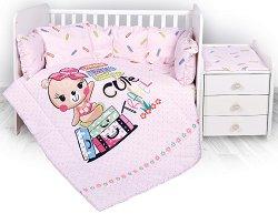Спален комплект за бебешко креватче - Cute Travel - 5 части -