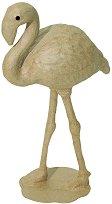 Фигура от папиемаше - Фламинго - Предмет за декориране с размери 15 / 7 / 27 cm