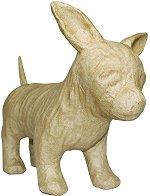 Фигура от папиемаше - Чихуахуа - Предмет за декориране с размери 23 / 19.5 / 11 cm