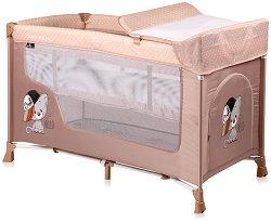 Сгъваемо бебешко легло на две нива - San Remo 2 Layers 2019 - Комплект с повивалник -